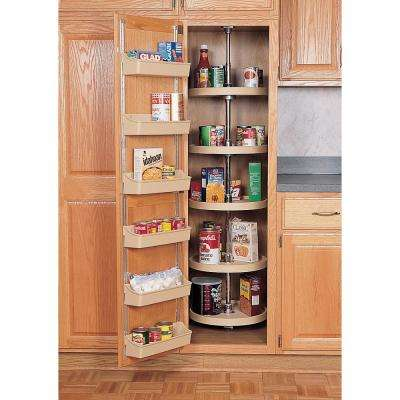 18 in. Almond Polymer Pantry Full Circle Lazy Susans