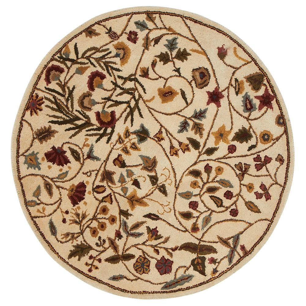 Safavieh Bergama Light Gold Beige 8 Ft X 8 Ft Round Area