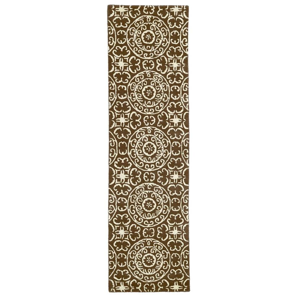 Evolution Brown 2 ft. 3 in. x 8 ft. Runner