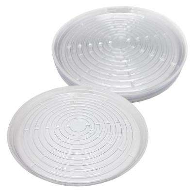 17.5 in. Clear Plastic Saucer (10-Pack)