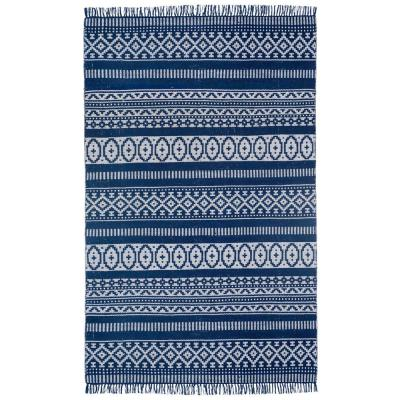 Blue Geo 3 ft. x 5 ft. Area Rug