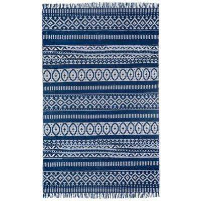 Blue Geo 5 ft. x 8 ft. Area Rug