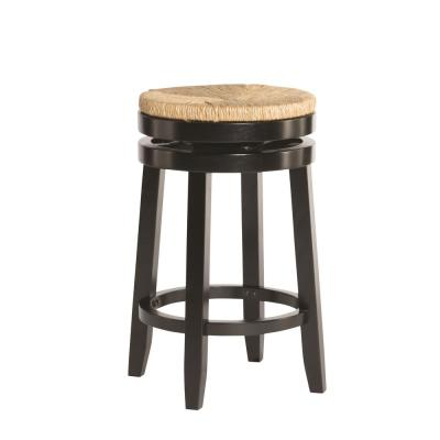 25.47 in. Black Mesquite Counter Stool
