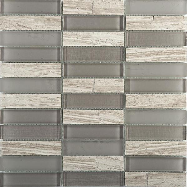 Illumina Halo Glossy 11.73 in. x 11.73 in. x 8mm Glass Mesh-Mounted Mosaic Tile (0.96 sq. ft.)