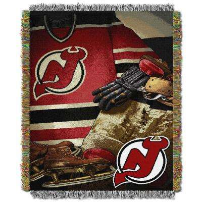 Devils Multi Color Vintage Tapestry Throw
