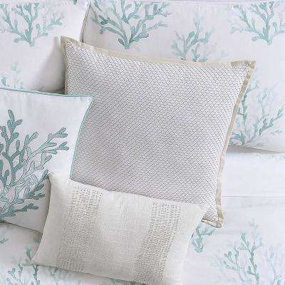 Cove Large Square Pillow in White and Neutral