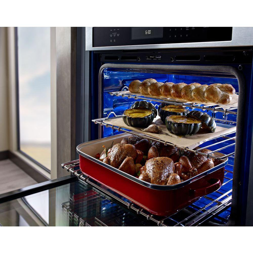 KitchenAid 30 in. Single Electric Wall Oven Self-Cleaning ...