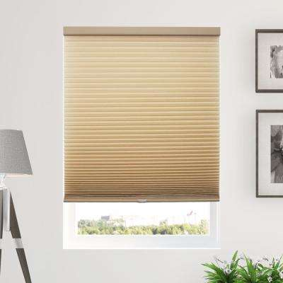 Cut-to-Width Morning Croissant (Privacy and Light Filtering) Cordless Cellular Shade - 72 in. W x 48 in. L
