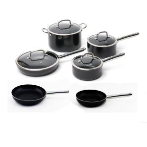 BergHOFF Boreal 10-Piece Non-Stick Aluminum Cookware Set with Lids by