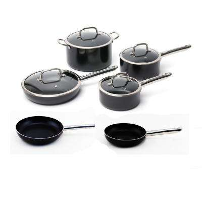 Boreal 10-Piece Non-Stick Aluminum Cookware Set with Lids