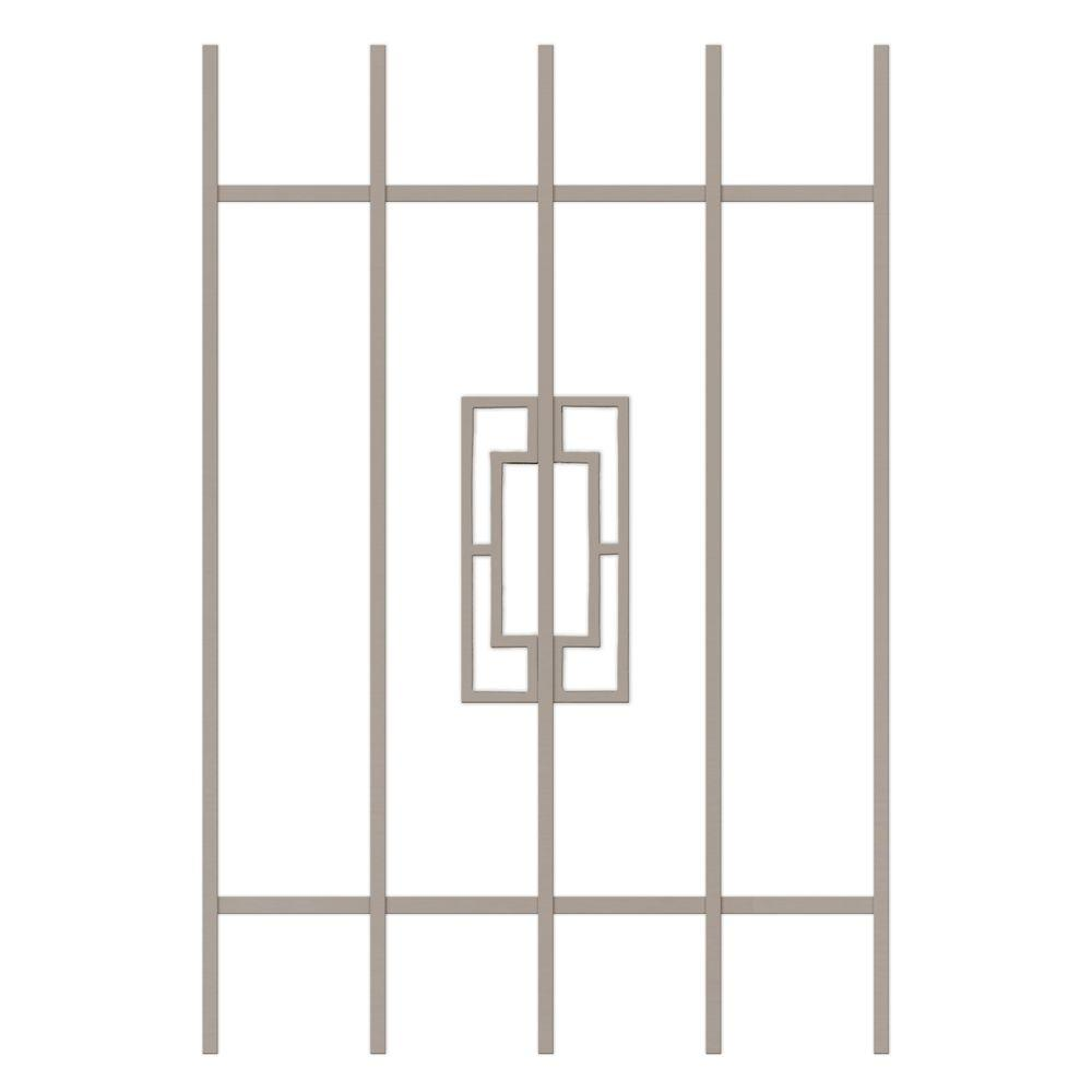 Unique Home Designs Modern Trifecta 24 in. x 36 in. Tan 5-Bar Window Guard-DISCONTINUED