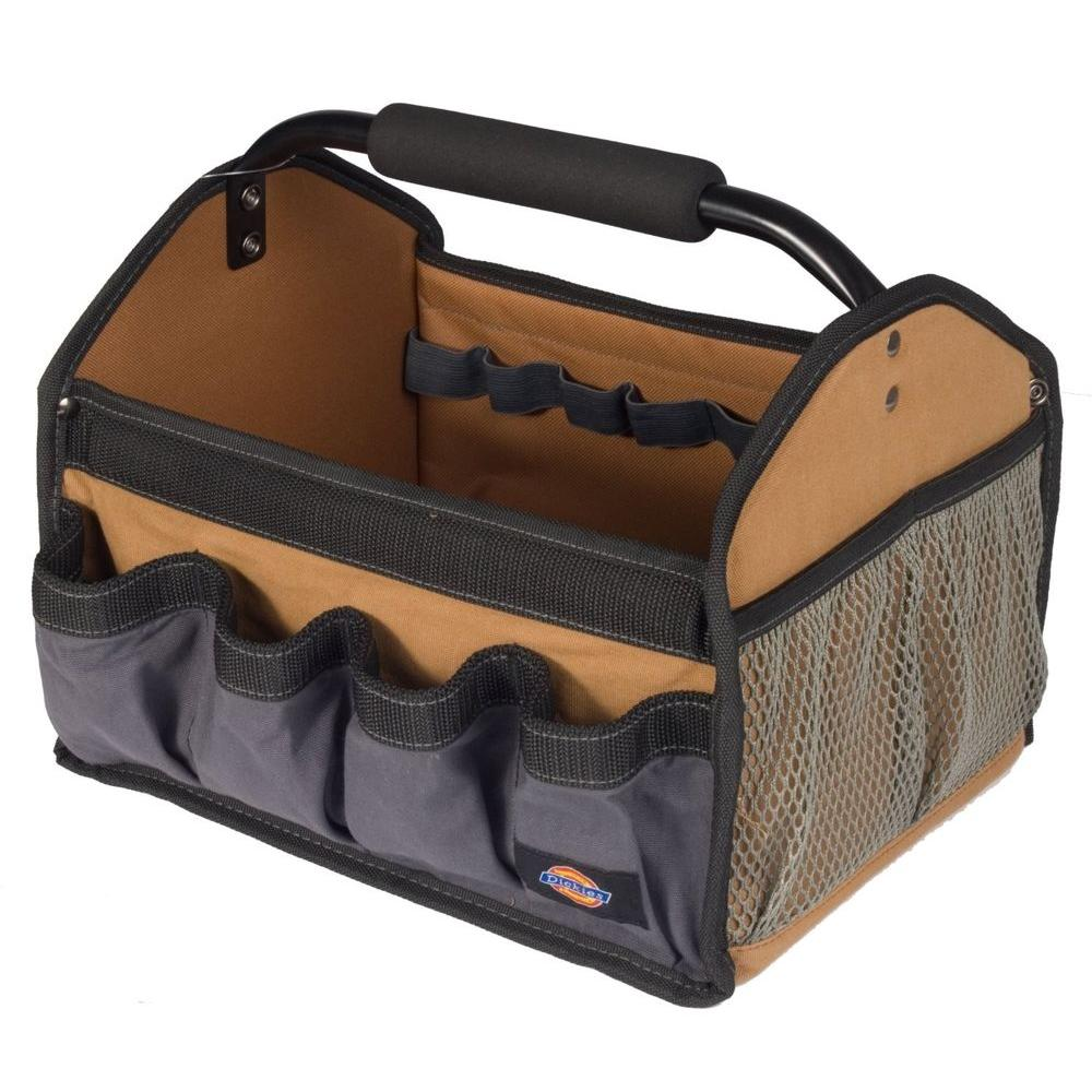 12 in. Soft Sided Construction Work Bin Tool Tote with Padded