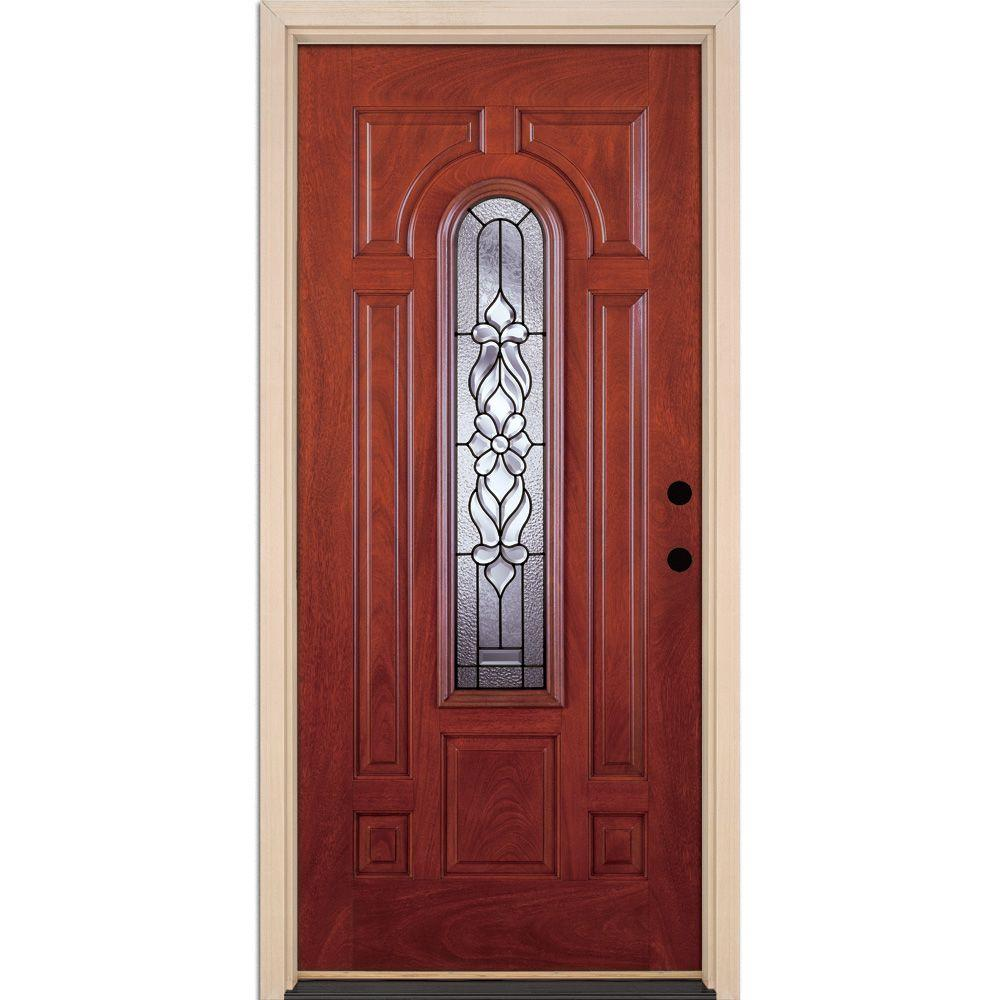 Feather river doors 37 5 in x in lakewood patina for Home depot exterior door installation