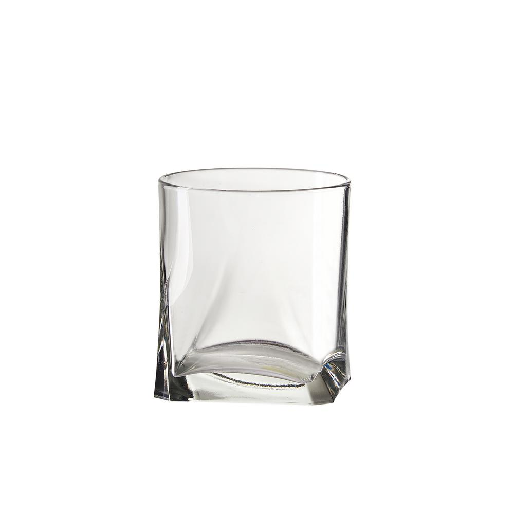 Gotico 12 oz. 6-Piece Clear Glass Double Old-Fashioned Drinkware Set