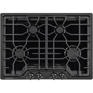 gas cooktop in black with 4 burners frigidaire gallery - Frigidaire Gallery Gas Range