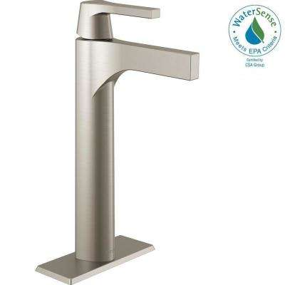 Zura Single Hole Single-Handle Vessel Bathroom Faucet in Stainless