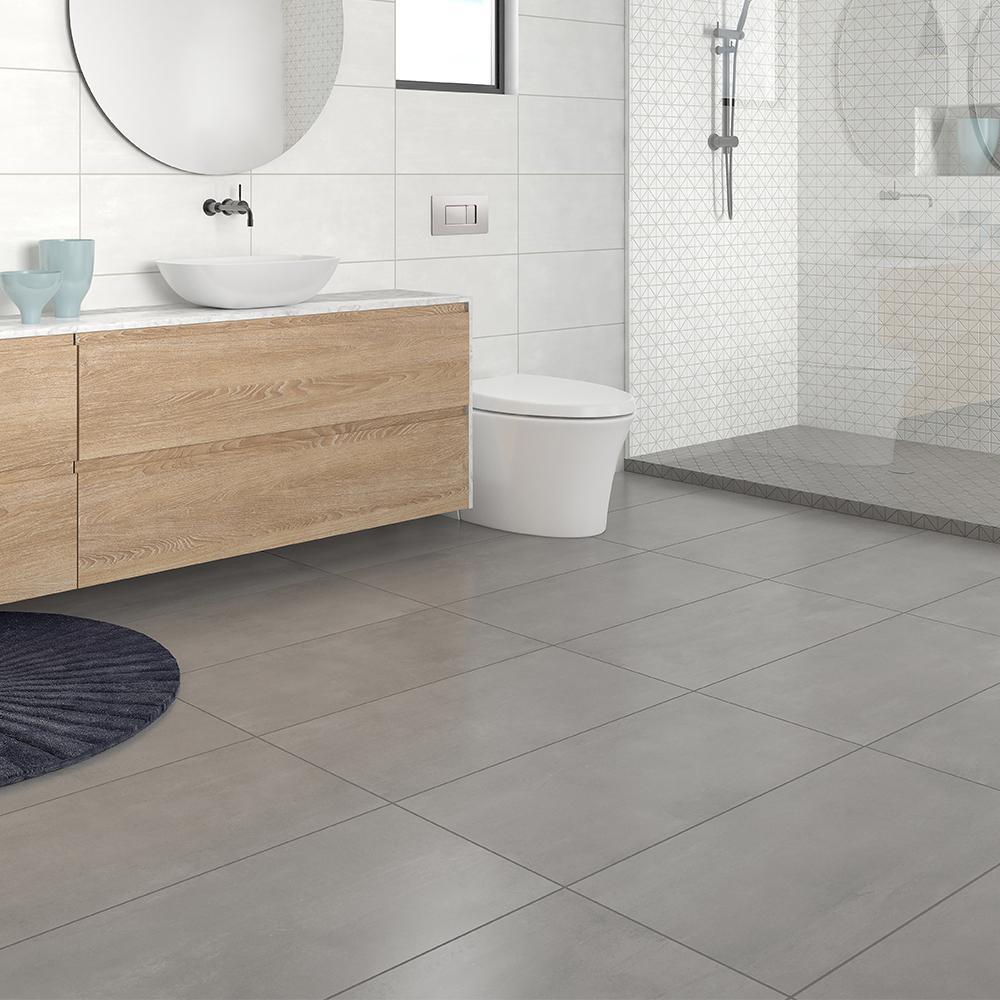 Burke Silver Tempest 12 in. x 24 in. Porcelain Floor Tile (11.57 sq. ft. / carton)