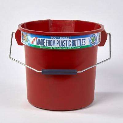 3.5 Gal. Red Round 14 Qt. Utility ECO Bucket 100% Made from Recycled Water Bottles