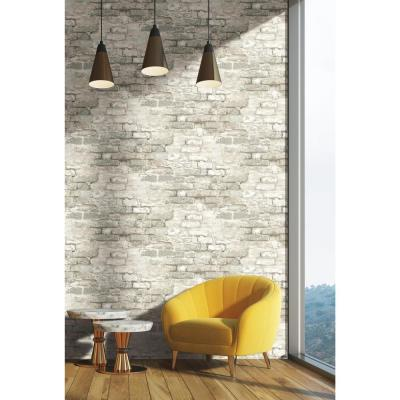56 sq. ft. Brick Alley Wallpaper