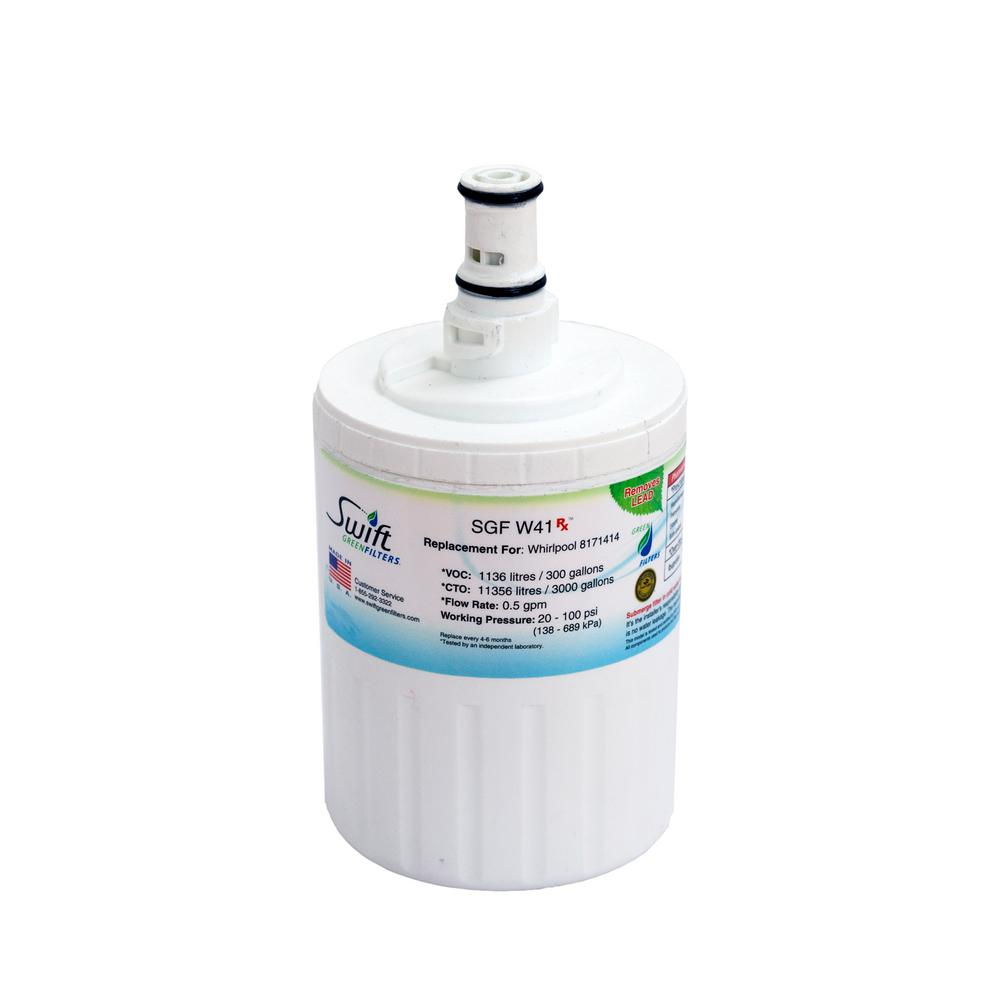 Reviews For Swift Green Filters Replacement Water Filter For Whirlpool 8171414 Sgf W41 Rx The Home Depot