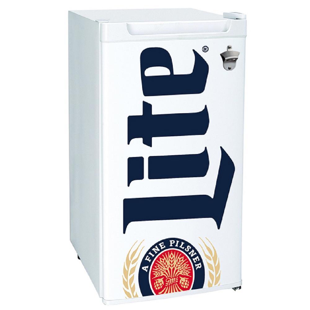 Miller Lite Mini Refrigerator In White