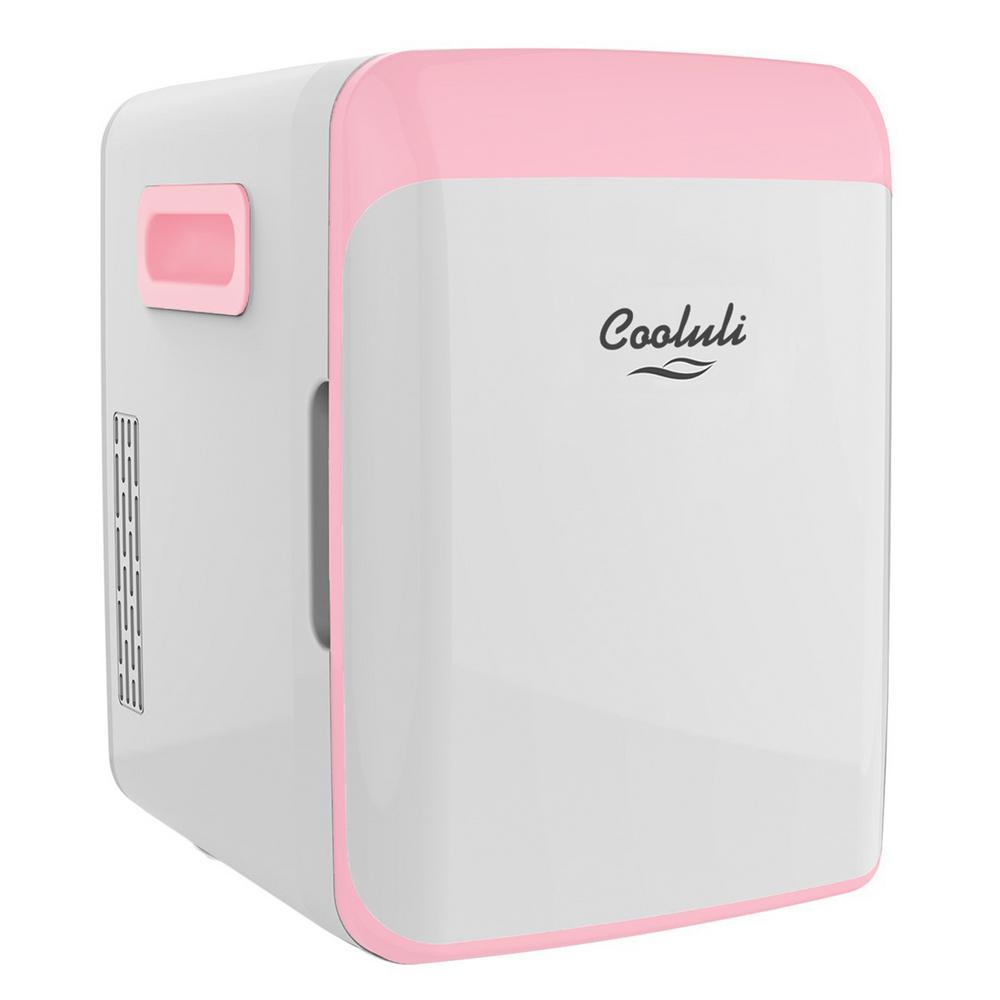 Classic 0.35 cu. ft. Retro Mini Fridge in Pink without Freezer