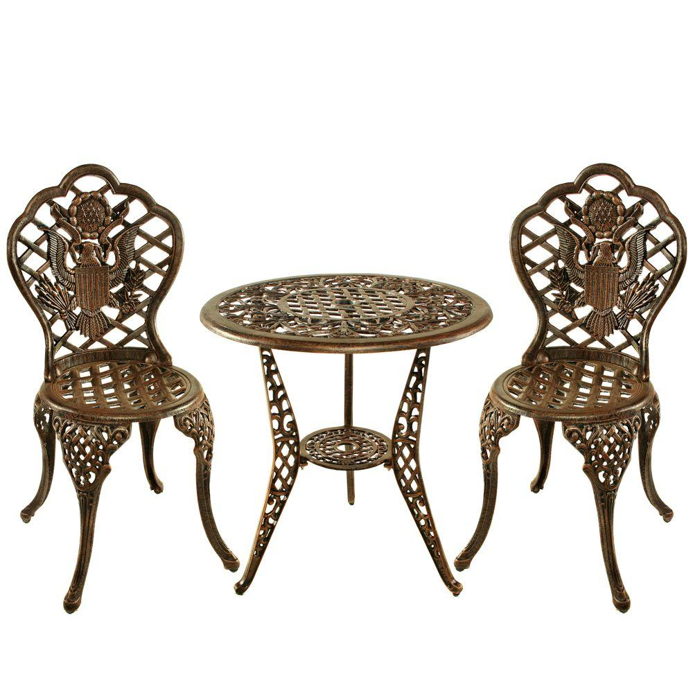 Superbe Oakland Living American Eagle 3 Piece Patio Bistro Set