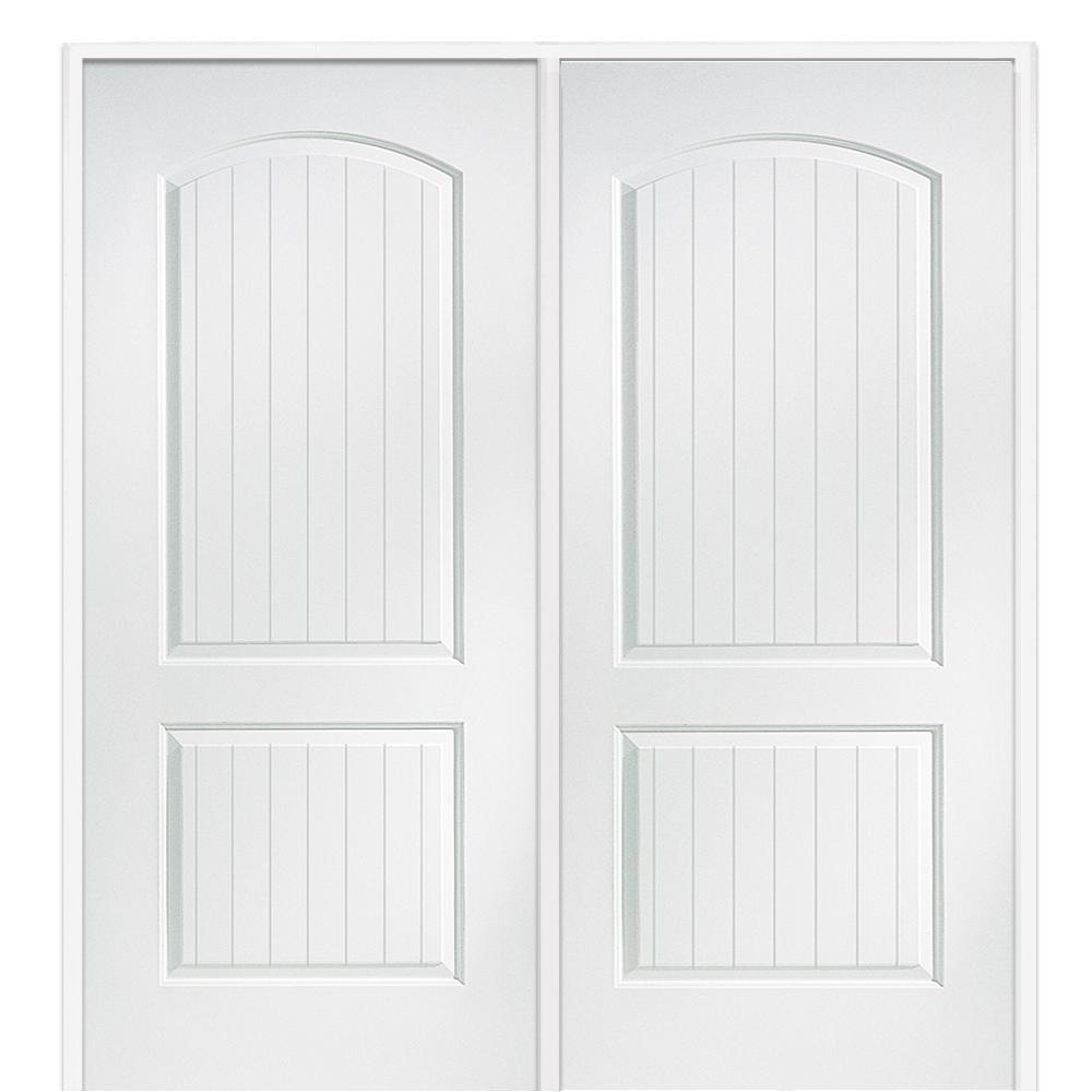 Mmi door 60 in x 80 in smooth cashal right hand active Double prehung interior doors home depot