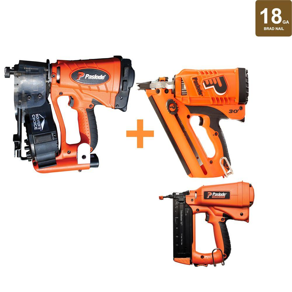 Wonderful Paslode 18 Gauge Cordless Framing Brad Finishing And Roofing Nailer Combo  (3 Tool