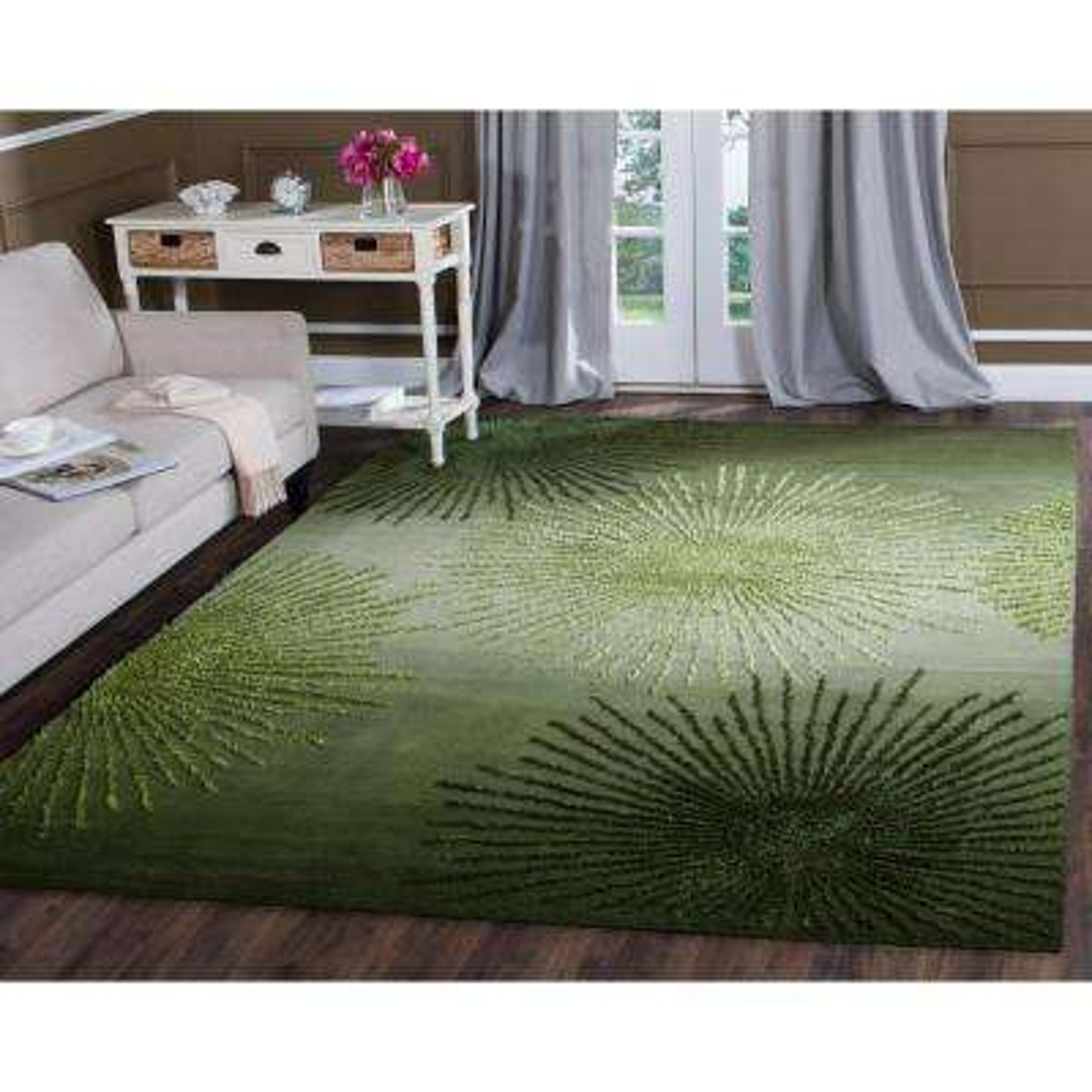 Soho Green/Multi Wool 8 ft. x 8 ft. Square Area Rug