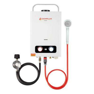 Camplux Pro 1.58 GPM 6 l Residential Outdoor Portable Liquid Propane Gas Tankless Water Heater