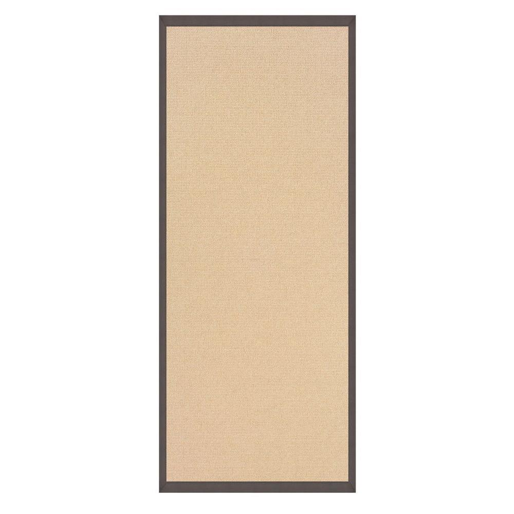 Linon home decor athena natural and slate 2 ft 6 in x 8 ft rug runner rug at010828 the home - Rugs and home decor decor ...