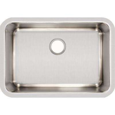 Lustertone Undermount Stainless Steel 27 in. Single Bowl Kitchen Sink with 10 in. Bowl