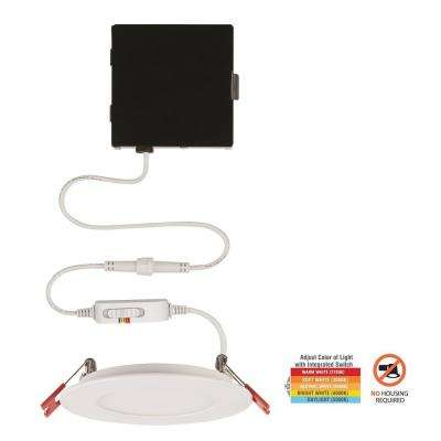 Ultra Slim 4 in. Color Selectable New Construction and Remodel Canless Recessed Integrated LED Kit