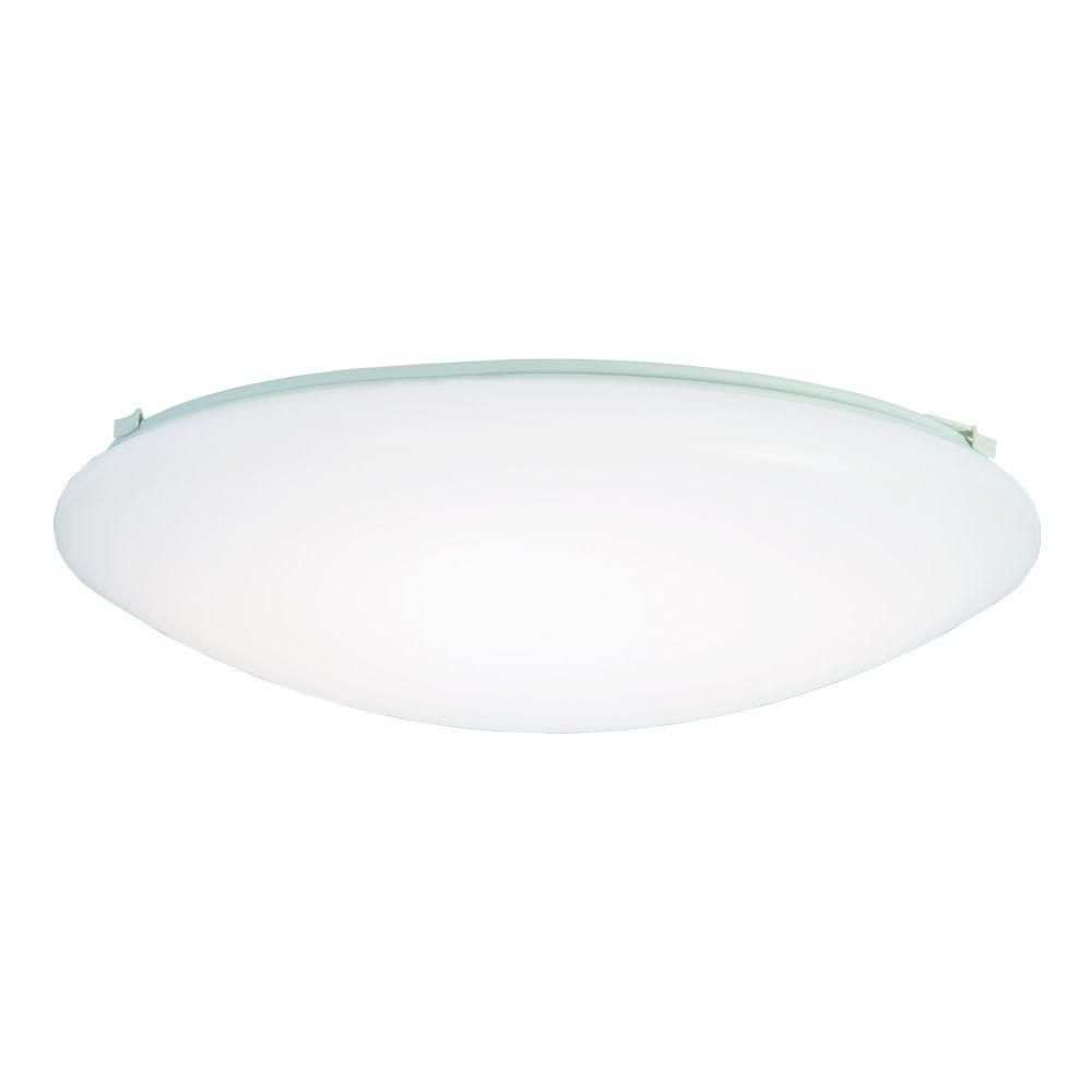 60 Watt White Low Profile Integrated Led Round Ceiling Flush Mount Light 3000k Soft