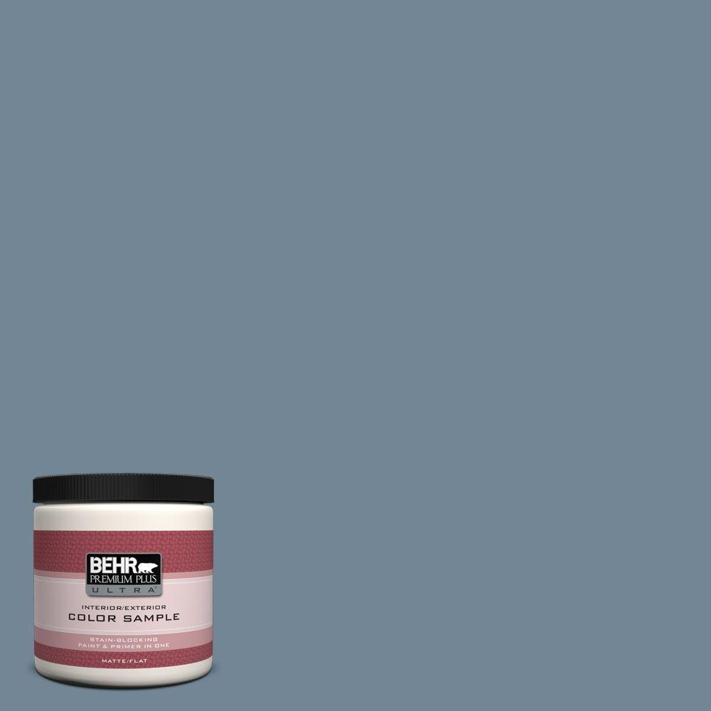8 oz. #570F-5 Skipper Matte Interior/Exterior Paint and Primer in One