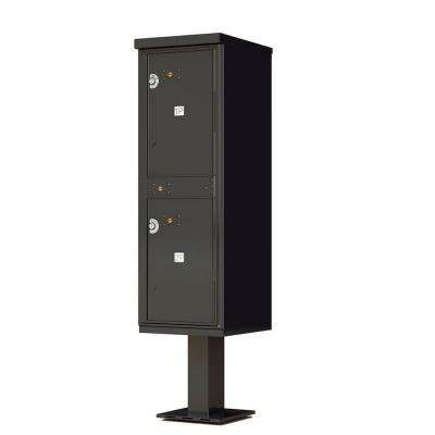 1,590 Valiant Black Pedestal Mount 4-Compartment Locking Outdoor Parcel Locker Mailbox