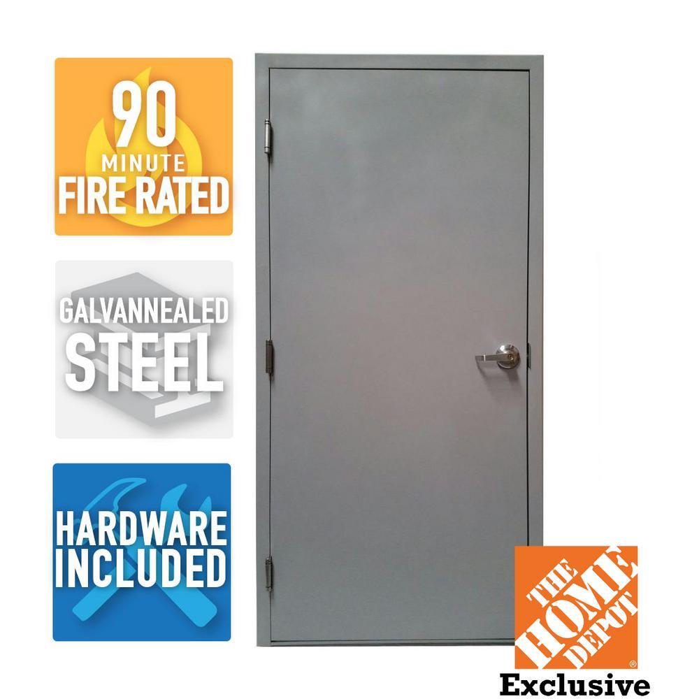 Armor door 36 in x 80 in fire rated gray right hand for Door 95 100 doors 3