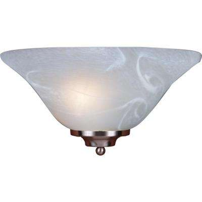 1-Light Brushed Nickel Interior Wall Sconce