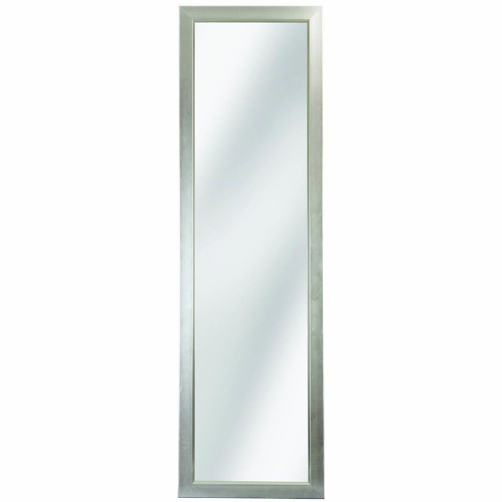 glacier bay 51 in l x 15 in w door mirror in silver foil