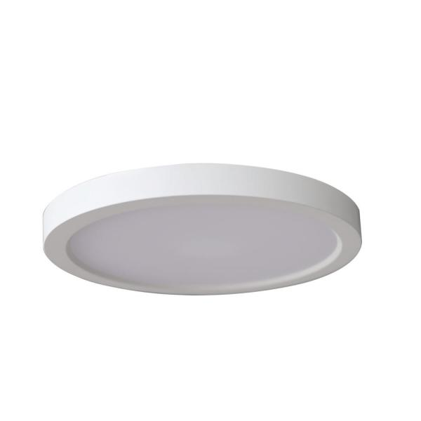 Commercial Electric 7 In Round 12 5 Watt White Integrated Led Flush Mount 4 Pack Nd01agr1 W3081 The Home Depot
