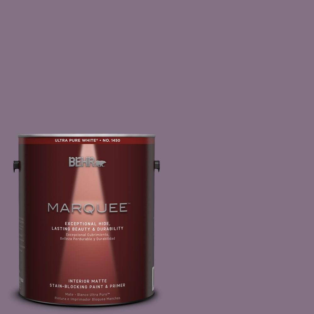 BEHR MARQUEE 1 gal. #HDC-SP14-9 Decorative Iris Matte Interior Paint