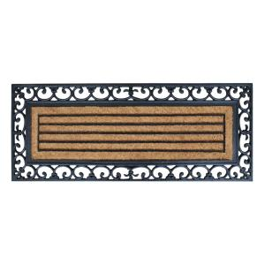 A1HC First Impression Clarence 18 inch x 48 inch Rubber and Coir Molded Door Mat by