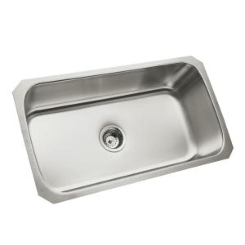 STERLING McAllister Undermount Stainless Steel 32 in. Single Bowl ...