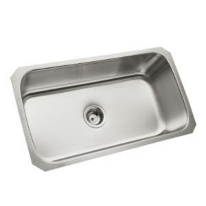 Sterling McAllister Undermount Stainless Steel 32 inch Single Bowl Kitchen Sink by STERLING