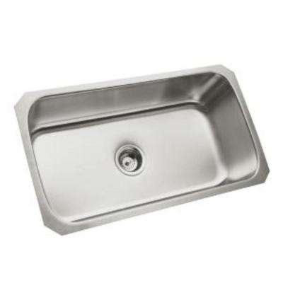 McAllister Undermount Stainless Steel 32 in. Single Bowl Kitchen Sink