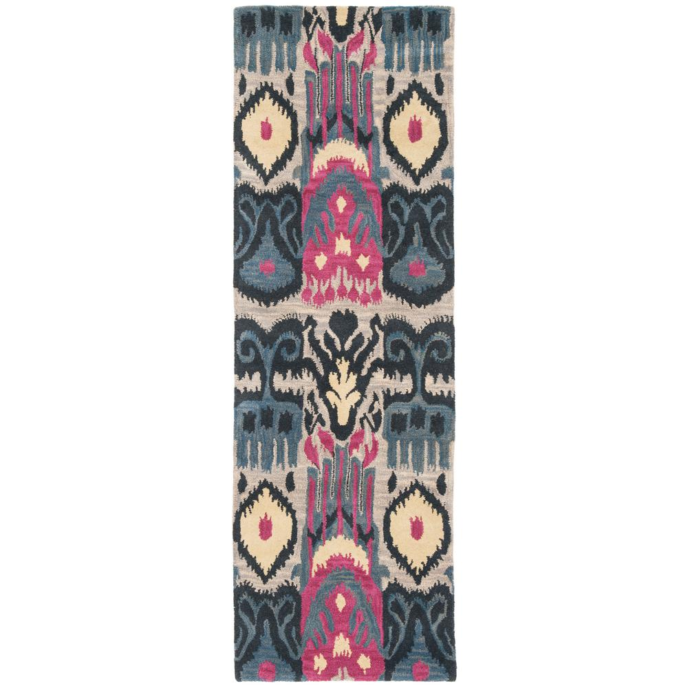 Safavieh Ikat Beige Blue 2 Ft 3 In X 10 Runner Rug