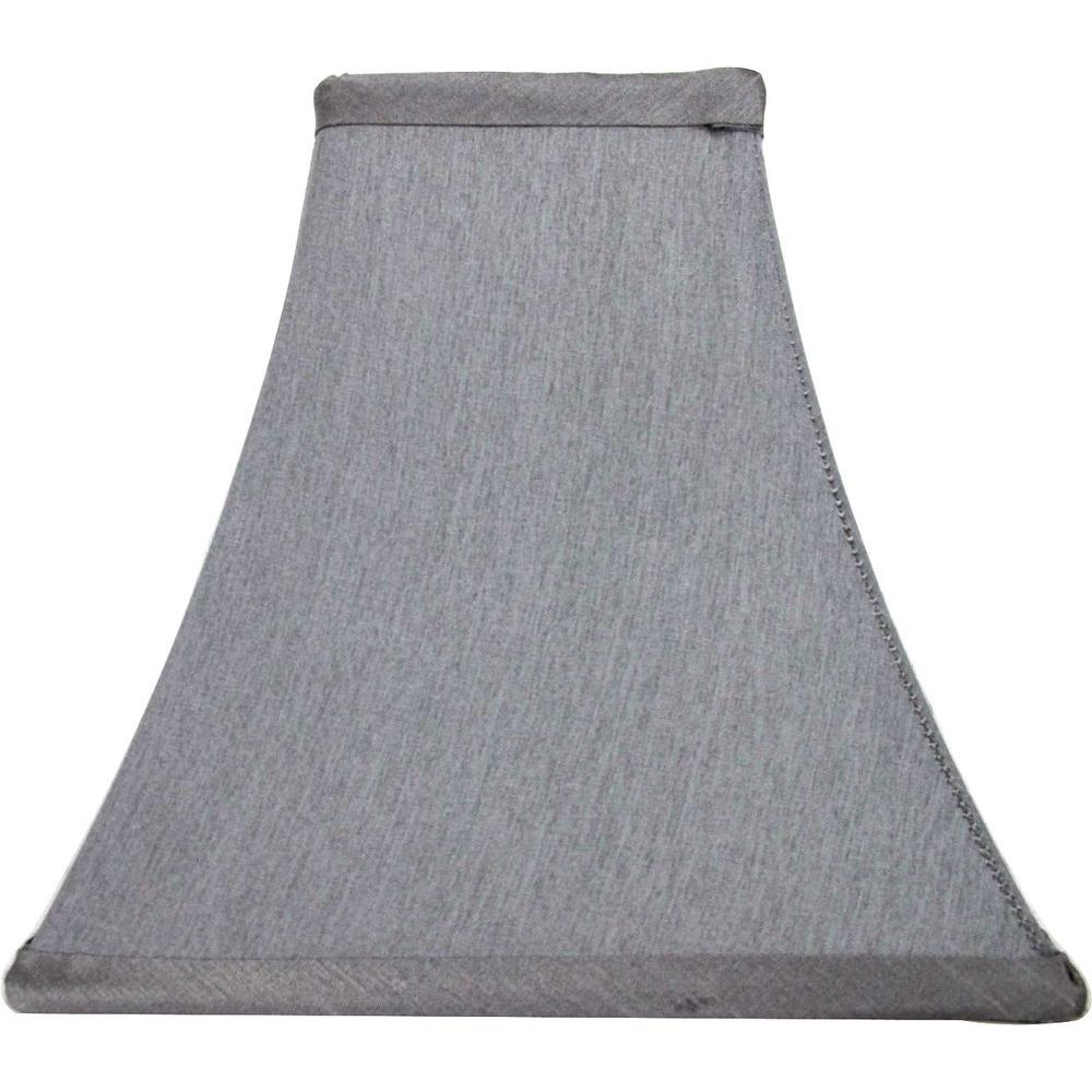 Hampton Bay Mix & Match Bavarian Grey Square Bell Accent Shade