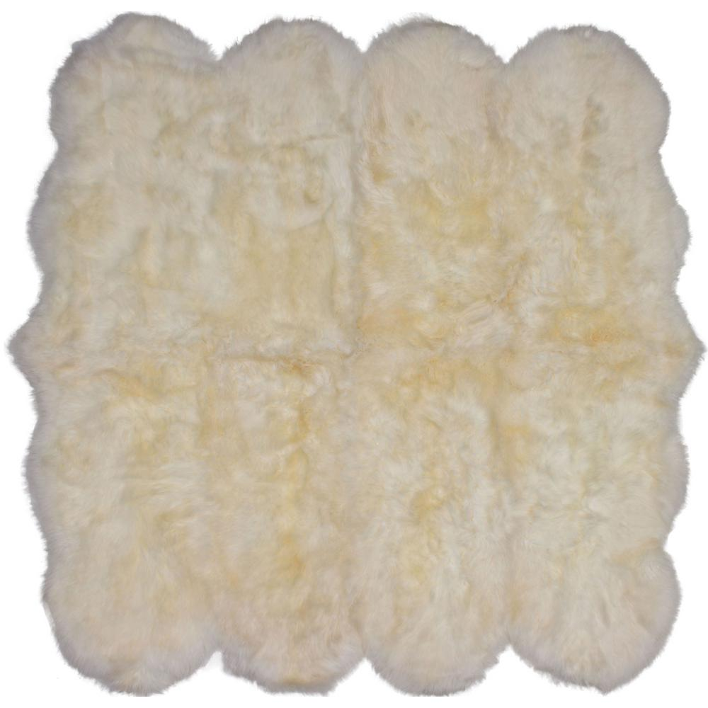 Sheepskin Rug Square: ECarpet Gallery Luxurious Sheepskin Ivory 6 Ft. X 6 Ft