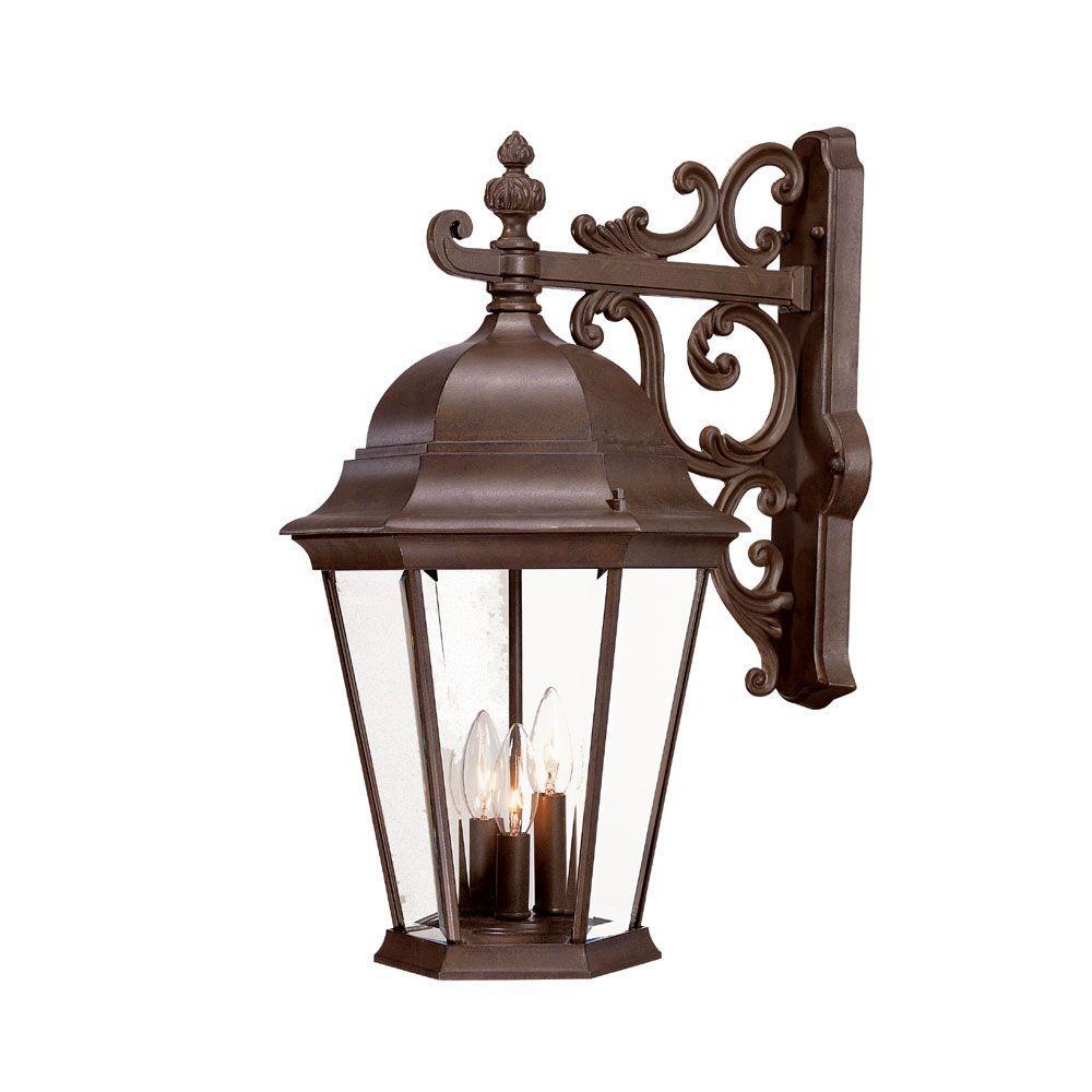 Acclaim Lighting Richmond Collection 3-Light Burled Walnut